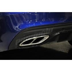 Mercedes Benz A B C E CLA SLC GLC Çiftli Krom Egzoz Kaplaması