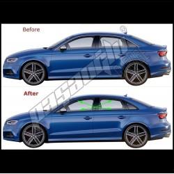 Audi - A3 8V Sedan Krom Cam Çıtası Paslanmaz Çelik 2013-2020