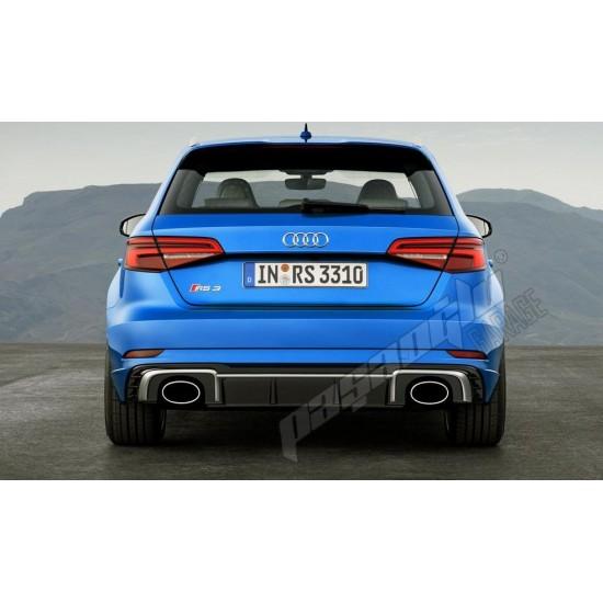 Audi - A3 8V Sportback Uyumlu RS3 Difüzör Egzoz Ucu 2016-2020