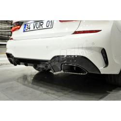 BMW 3 Serisi G20 M340i 340 M Performance Difüzör ve Siyah Egzoz Ucu 2019+