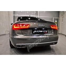 Audi - A6 C7 - Bagaj Altı Krom_Çıta_ Paslanmaz Çelik 2011-2018