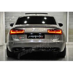 Audi - A6 C7 RS6 Difüzör+Egzoz Ucu 2012-2014