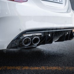 Mercedes Benz - W205 C Serisi FACELIFT Sedan / STW Uyumlu C43 AMG Difüzör Egzoz Ucu