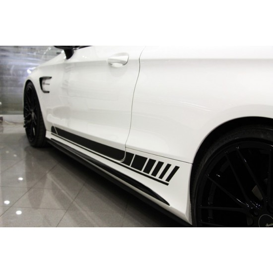 Mercedes Benz - W205 C Coupe C63 AMG Kapı Şeritleri