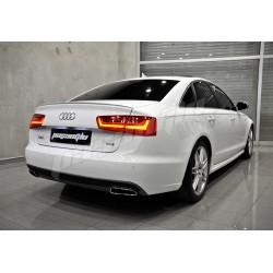 Audi - A6 C7 S line S6 Difüzör + Egzoz Ucu 2012-2014