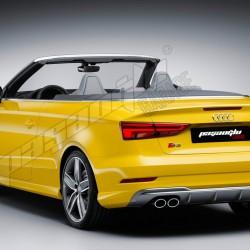 Audi - A3 S3 Krom Egzoz Uçları Dört Çıkış (Sol Aktif-Sağ Pasif )