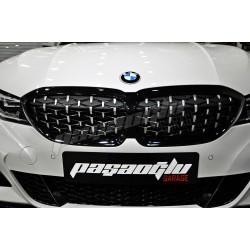 BMW - 3 Serisi G20 Diamond ELMAS Böbrek Panjur 2019-Sonrası